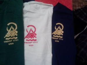 Our Troop shirts